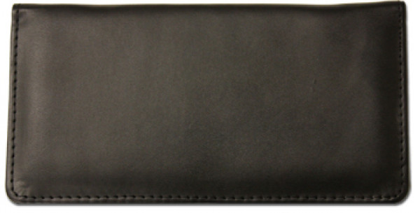 Black Smooth Leather Checkbook Cover | CLP-BLA04