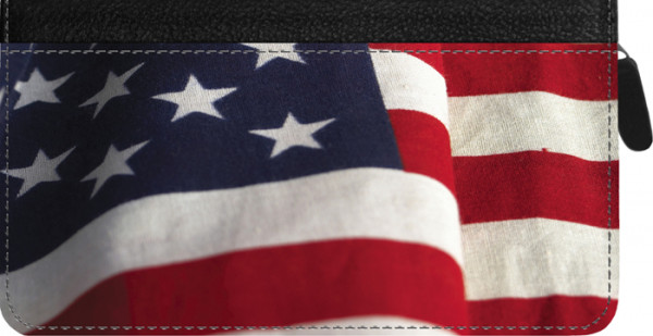 American Pride Zippered Checkbook Cover | CLZ-VAL010