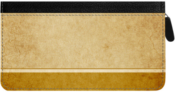 Parchment Zippered Checkbook Cover