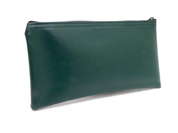 """Forest Green Zipper Bank Bag, 5.5"""" X 10.5"""""""