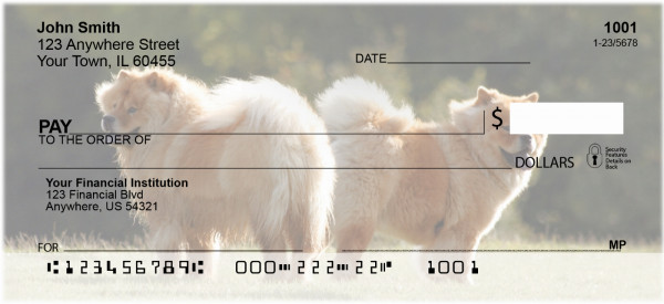 Chow Chow Personal Checks