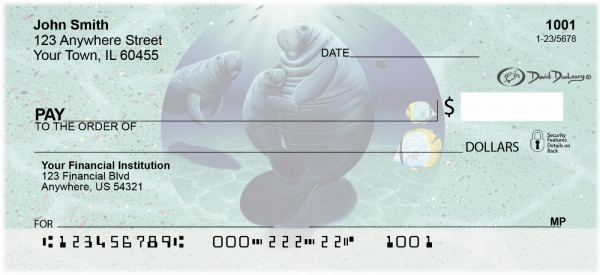 Manatee's Personal Checks by David Dunleavy | DUN-04