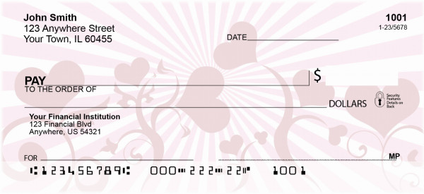 Hearts Delight Personal Checks | EVC-08
