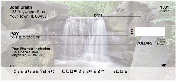 Waterfall Checks Personal Checks | EVC-15
