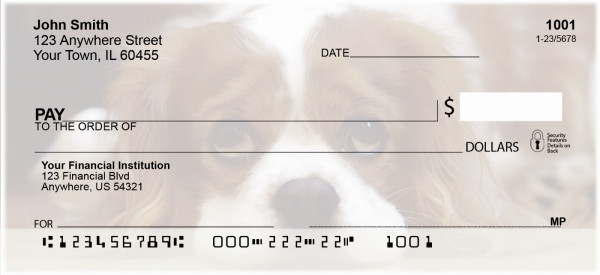Cavalier King Charles Dogs Personal Checks