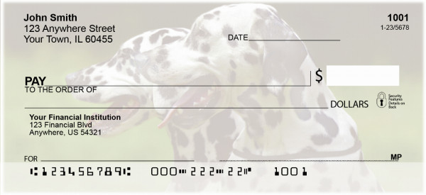 Dalmatian Dogs Personal Checks