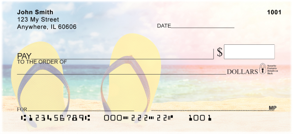 Flip Flop Fun Personal Checks | EVC-55