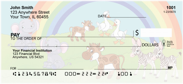 Noahs Rainbows Personal Checks | EVC-75