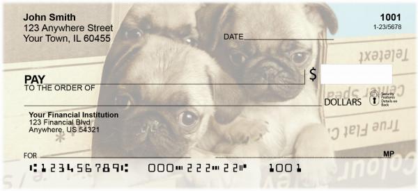 Pug Mugs Personal Checks