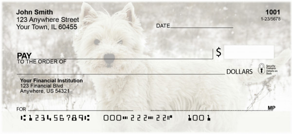 Westie Dog Personal Checks