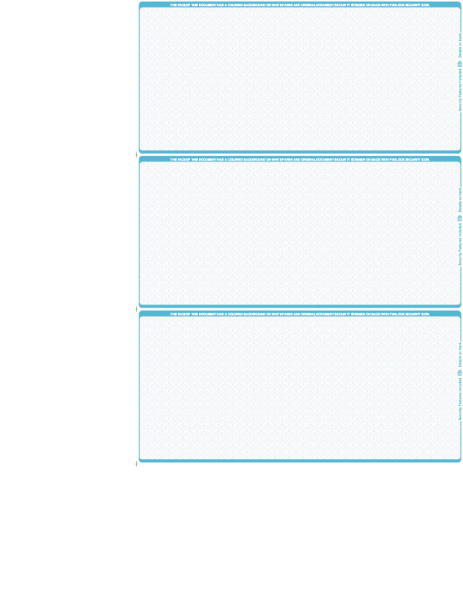 Blank Teal Safety 3 Per Page Wallet Checks | L3P-BLA-AS