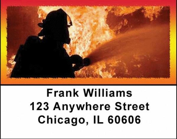 Battling Firefighters Address Labels