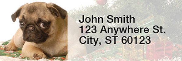 Christmas Dogs Rectangle Address Labels | LRRXMS-56