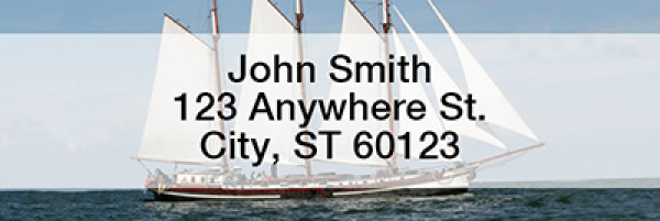 Clipper Ships Narrow Address Labels | LRSAI-02