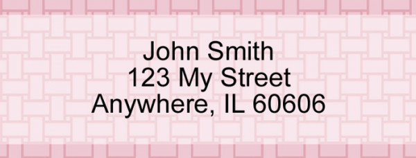 Pink Safety Narrow Address Labels | LRVAL-026