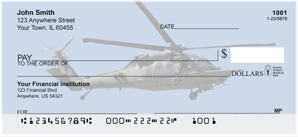 Blackhawk Choppers Personal Checks | MIL-53