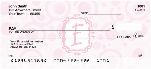 Bubbly Monogram E Personal Checks | MONO-05E