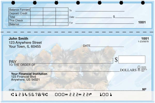 Yorkie Pups Keith Kimberlin Top Stub Checks | TSKKM-16