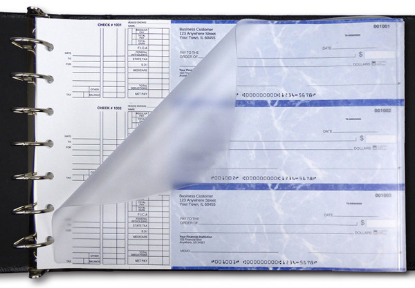 Frosted Business Check Divider | VCP-02