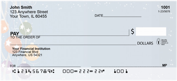 Holiday Ornaments Personal Checks | XMS-09
