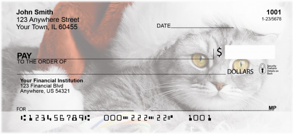Christmas Cats Personal Checks | XMS-55