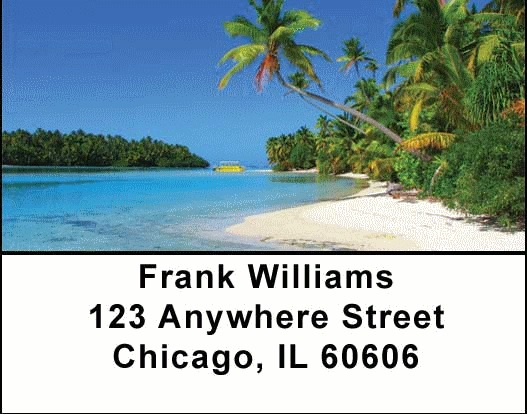 Island Paradise Address Labels