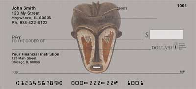African Masks Personal Checks