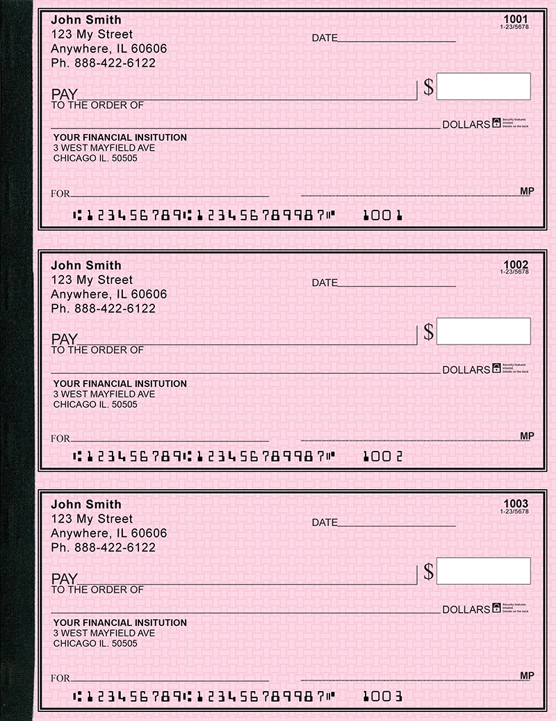 Pink Safety Secretary  Deskbook Checks