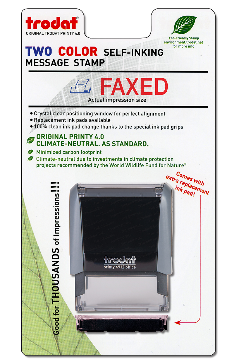 ''Faxed'' Message Stamp