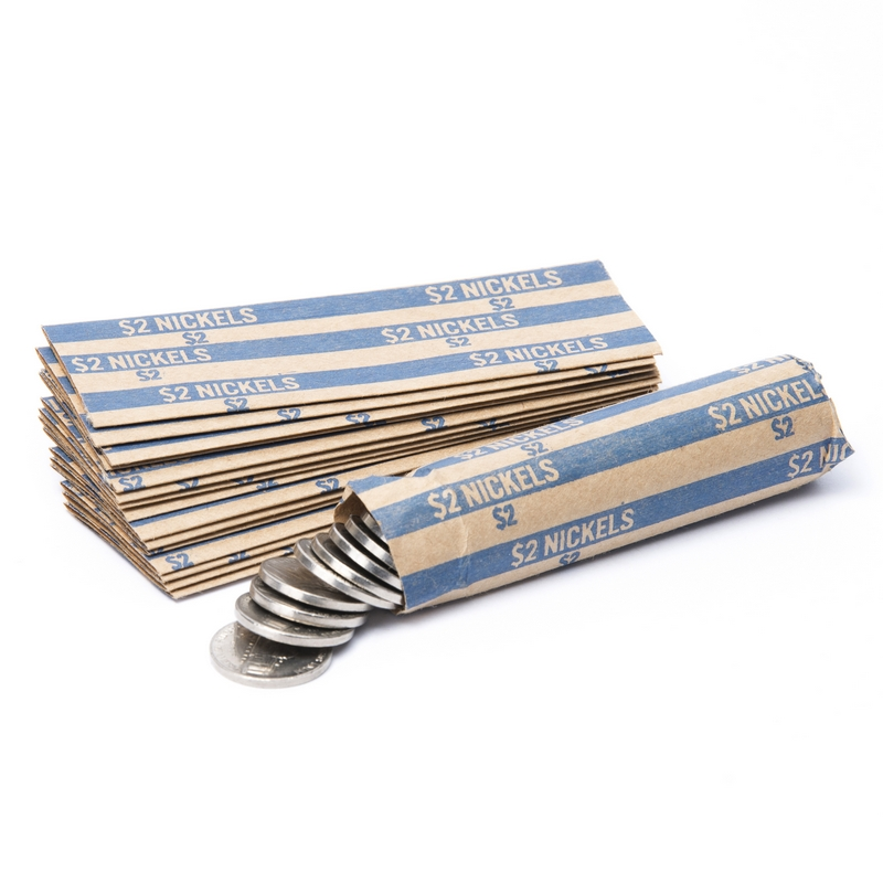 Nickel Flat Striped Coin Wrappers