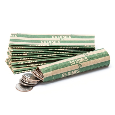 Dime_Flat_Striped_Coin_Wrappers