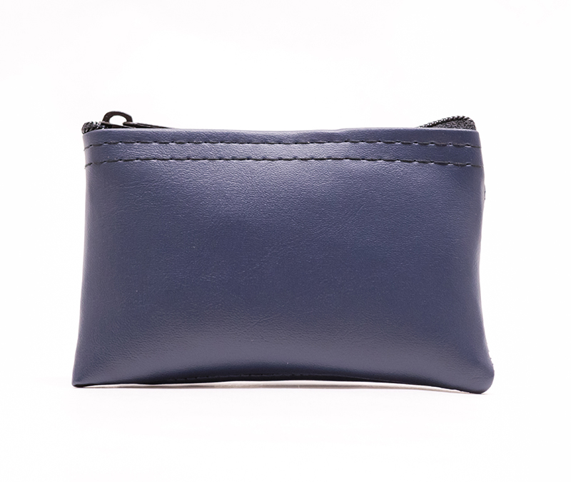 Navy Blue Zipper Wallet 3 X 4.5