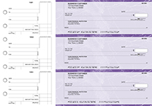 Purple Marble Standard Counter Signature Business Checks