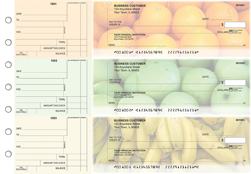 Fruit Standard Counter Signature Business Checks