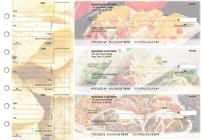 Mexican Cuisine Standard Counter Signature Business Checks