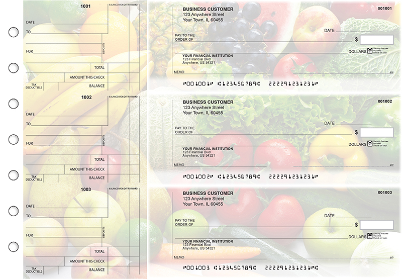 Fresh Produce Standard Counter Signature Business Checks