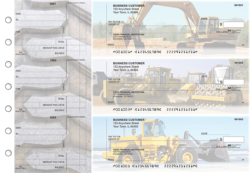 Construction Standard Counter Signature Business Checks