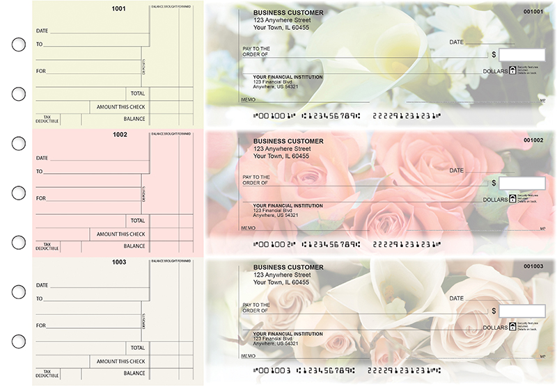 Florist Standard Counter Signature Business Checks