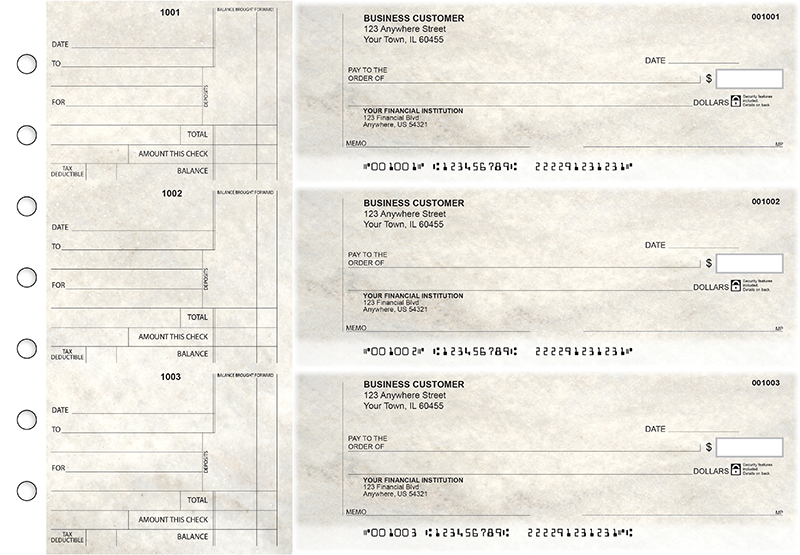 Granite Standard Counter Signature Business Checks