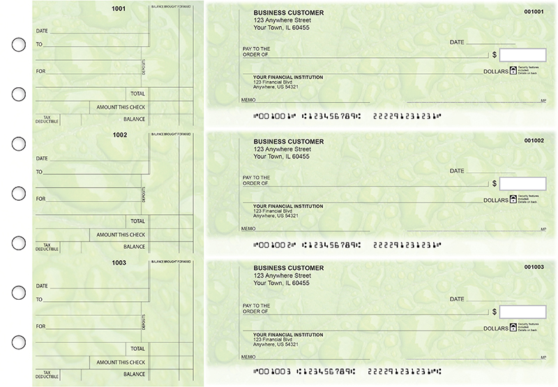 Leaf Standard Counter Signature Business Checks