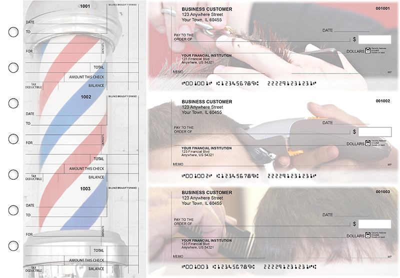 Barber Standard Counter Signature Business Checks