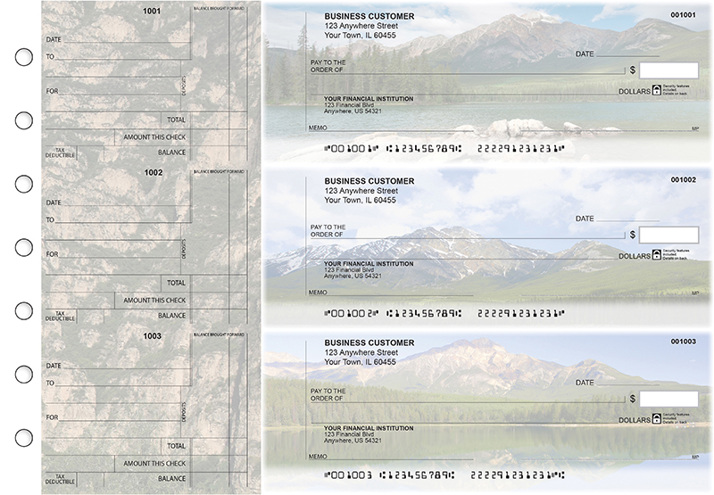 Scenic Mountains Standard Counter Signature Business Checks