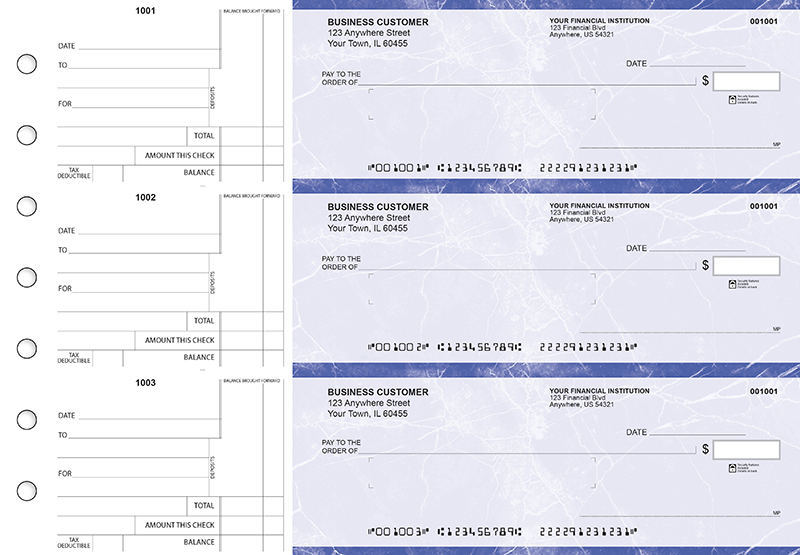Blue Marble Standard Mailer Business Checks