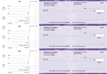 Purple Marble Standard Mailer Business Checks