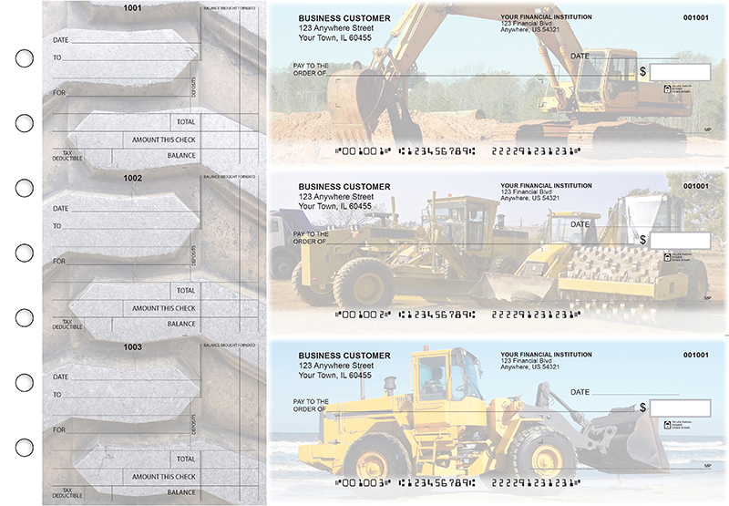 Construction Standard Mailer Business Checks