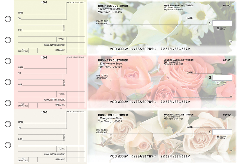 Florist Standard Mailer Business Checks