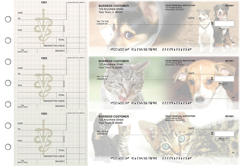 Veterinarian Standard Mailer Business Checks