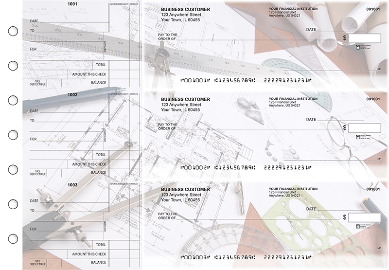 Architect Standard Mailer Business Checks