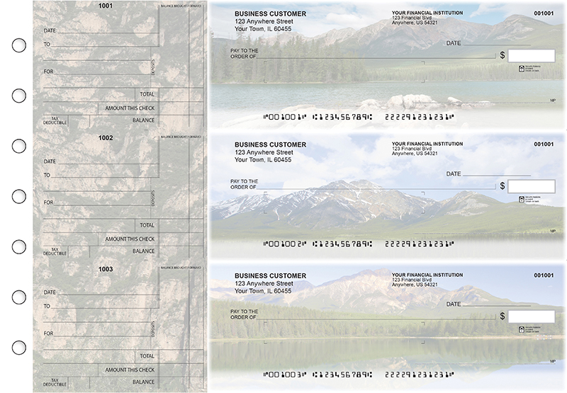 Scenic Mountains Standard Mailer Business Checks