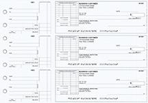 Blue Knit Standard Itemized Invoice Business Checks